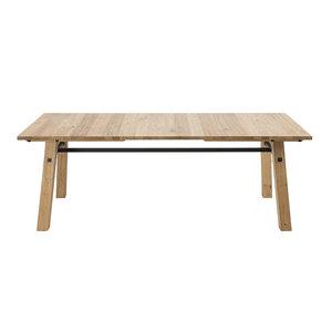 Eettafel Woest eiken 160cm hout met metaal