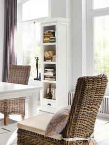 Nova solo - Boekenkast Wittevilla wit hout met lade sfeerimpressie