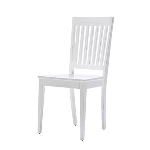 Nova solo - Eetkamerstoel Wittevilla wit hout set 2 stoelen