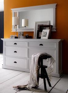 Nova solo - Spiegel Wittevilla wit hout 120x70cm breedte sfeerimpressie