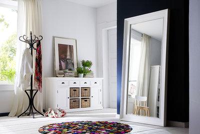 Nova solo - Spiegel Wittevilla wit hout 100x200cm extra groot sfeerimpressie