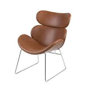 Meubelen-Online Fauteuil Bee bruin moderne design stoel