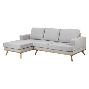Bank met sofa Fyn stof grijs links