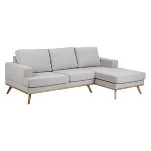 Bank met sofa Fyn stof grijs rechts