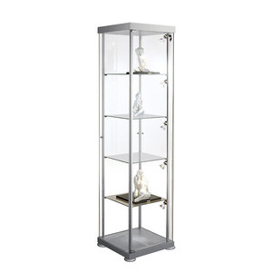 Glazen Kasten Glasvitrine.Vitrinekast Glas Vierkant Glasvitrine Met Slot