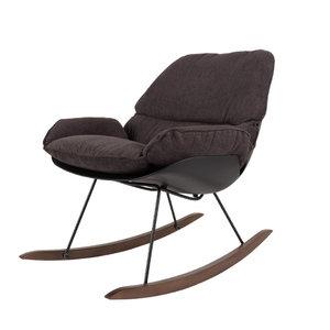 Schommelstoel Marva fauteuil antraciet stof