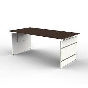 Kerkmann - Bureau Office desk 180cm bruin hoogte verstelbaar