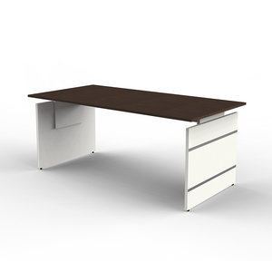 Kerkmann- Bureau Office desk 160cm bruin hoogte verstelbaar