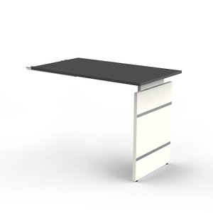 Kerkmann - Bureau Office desk extension 100cm antraciet hoogte verstelbaar