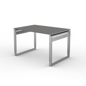 Kerkmann - Bureau Workspace 120cm grijs hoogte verstelbaar
