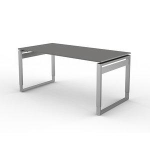 Kerkmann - Bureau Workspace 160cm grijs hoogte verstelbaar