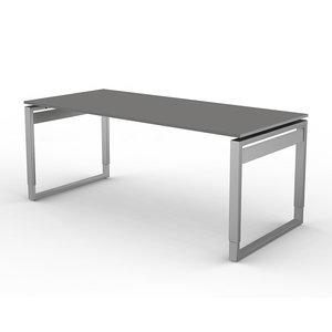 Kerkmann - Bureau Workspace 180cm grijs hoogte verstelbaar