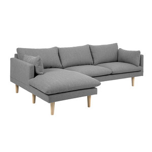 Actona - Bank met sofa Sunderland grijs links