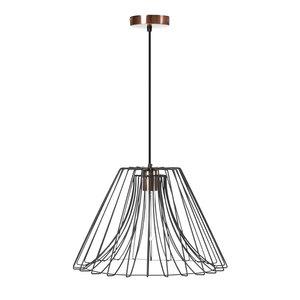 Expo Trading - Hanglamp Starflower draadlamp zwart met koper