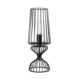 Expo Trading - Tafellamp Wire metaal zwart draadlamp 43cm