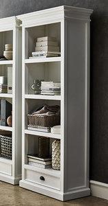 Nova Solo - Boekenkast Wittevilla wit hout met lade breed