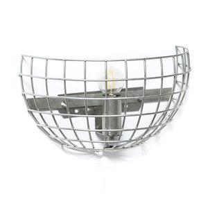 Expo Trading - Wandlamp Iron draadlamp blank metaal
