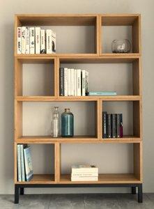 Interstil - Vakkenkast Apartment compleet eiken hout met zwart design