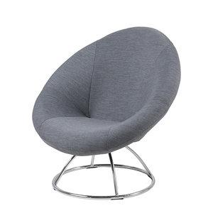 Actona - Fauteuil Myra stof grijs sixties design