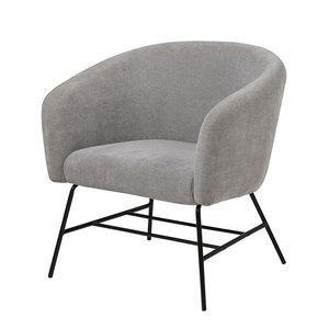 Actona - Fauteuil Oliver stof grijs design