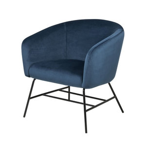 Actona - Fauteuil Oliver stof blauw design
