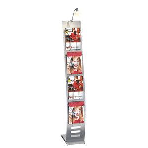 Kerkmann- Folderhouder Business display met verlichting smal