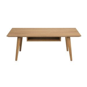 Meubelen-Online - Salontafel Century hout naturel met vak