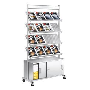 Kerkmann- Folderhouder Prospect display met opbergruimte