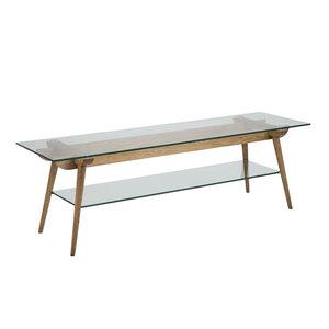 Meubelen-Online - TV-meubel Sevilla hout met glas TV-tafel