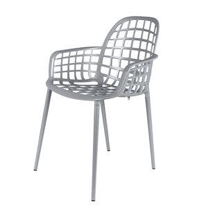 Meubelen-Online - Tuinstoel Albert Kuip grijs aluminium merk Zuiver