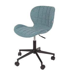 Meubelen-Online - Bureaustoel OMG blauw design merk Zuiver