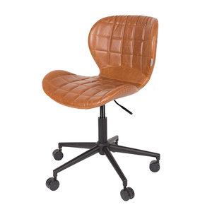 Meubelen-Online - Bureaustoel OMG bruin design merk Zuiver