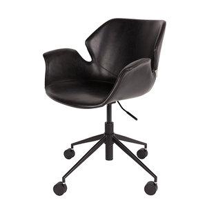 Bureaustoel Zwart Design.Bureaustoel Nikki Zwart Design Merk Zuiver