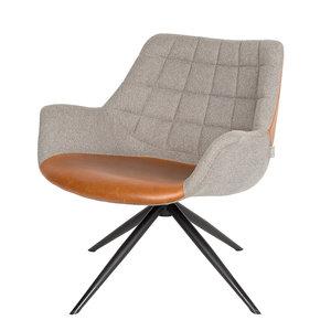 Meubelen-Online - Fauteuil Doulton Lounge vintage merk Zuiver