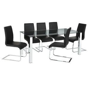 Meubelen-Online - Eethoek Sportivo compleet met 6 stoelen
