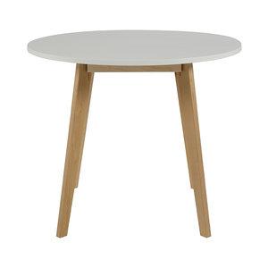 Eettafel Rond Wit Hout.Eettafel Basic Rond 90cm Wit Met Blank Hout