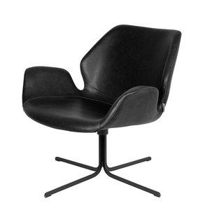 Meubelen-Online - Fauteuil Nikki zwart design merk Zuiver