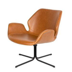 Meubelen-Online - Fauteuil Nikki bruin design merk Zuiver