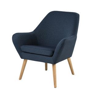 Meubelen-Online - Fauteuil Akito blauw bijzetfauteuil