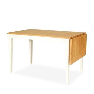 Meubelen-Online - Eettafel Yorkshire hangoor wit met hout