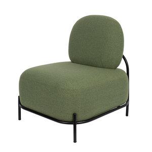 Meubelen-Online - Fauteuil Bollo stof groen zonder armleuningen
