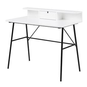 Meubelen-Online - Bureau Minx wit met zwart design