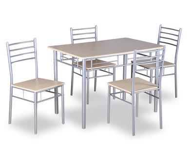 Meubelen-Online - Eethoek Content tafel met vier stoelen