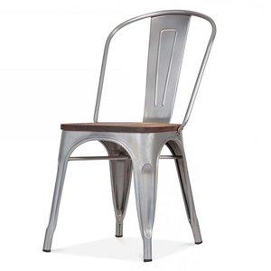 Meubelen-Online - Eetkamerstoel Sandor set vier stoelen licht grijs