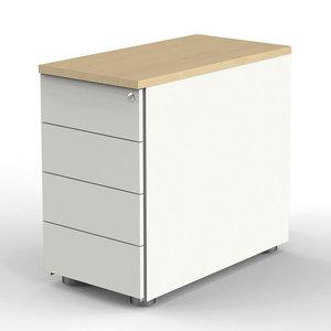 Kerkmann - Verleng ladeblok blank hout verstelbaar