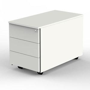Kerkmann - Ladeblok wit 3 lades 80cm diep afsluitbaar