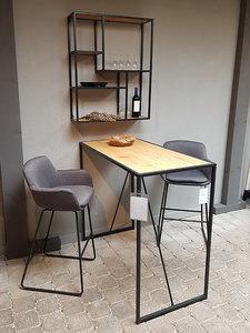 Meubelen-Online - Bartafel set tafel met krukken en wandrek