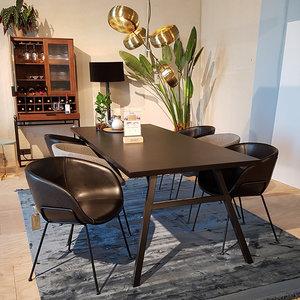 Zuiver - Complete eethoek Feston zwart 6 stoelen