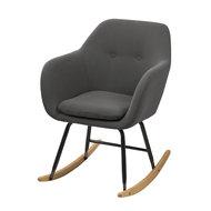 Meubelen-Online - Fauteuil Fancy schommelstoel stof donker grijs