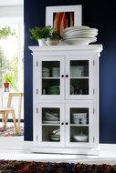 Nova solo - Vitrinekast Wittevilla wit 4 deuren glas